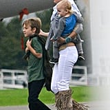 Kate Hudson spent time with sons Bingham Bellamy and Ryder Robinson.