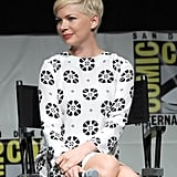 Michelle Williams sat onstage at Comic-Con.