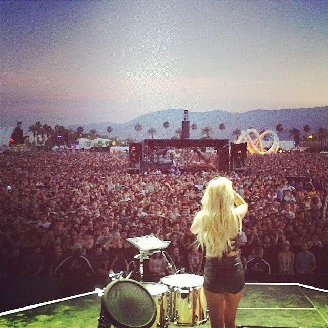Ellie Goulding performed to a massive crowd. Source: Instagram user elliegoulding