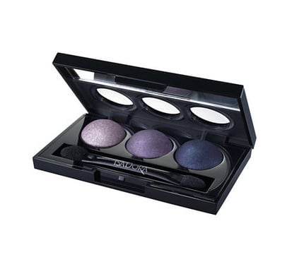 The Isadora Purple Vain shadow trio (£15) has three purple shades for easy contouring. Use the lightest up to the brow bone, fill in the lids with the middle shade, then use the darkest colour either as liner, or blended gently into the socket. Finish with a tiny dab of the pale colour on the inner corners of the eye to lift the whole look.