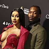 Cardi B and Offset at Clive Davis's 2020 Pre-Grammy Gala in LA