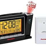 First Alert Radio-Controlled Weather Station Projection Clock