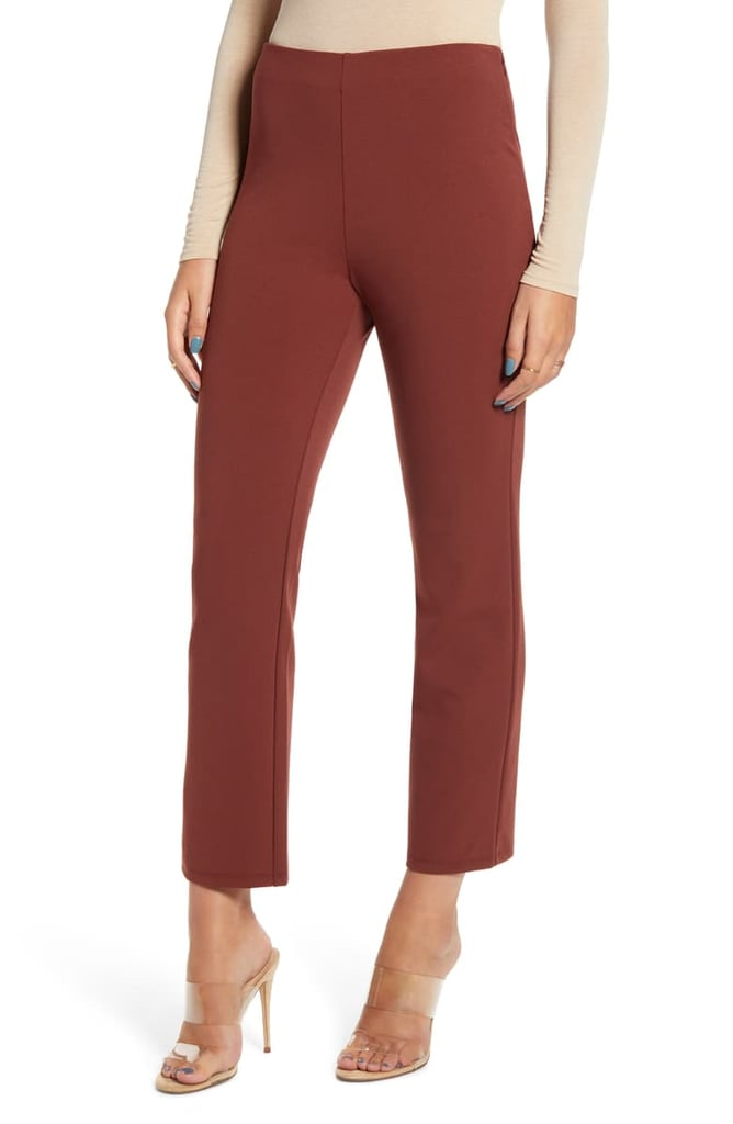 Leith High Waist Slim Pants in Mocha