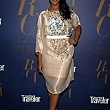 The bottom layer of Kerry Washington's dress is short, but the sheer layer takes it to a demure place.
