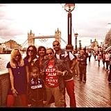 La La Vasquez spent time with her family while in London. Source: Instagram user lala