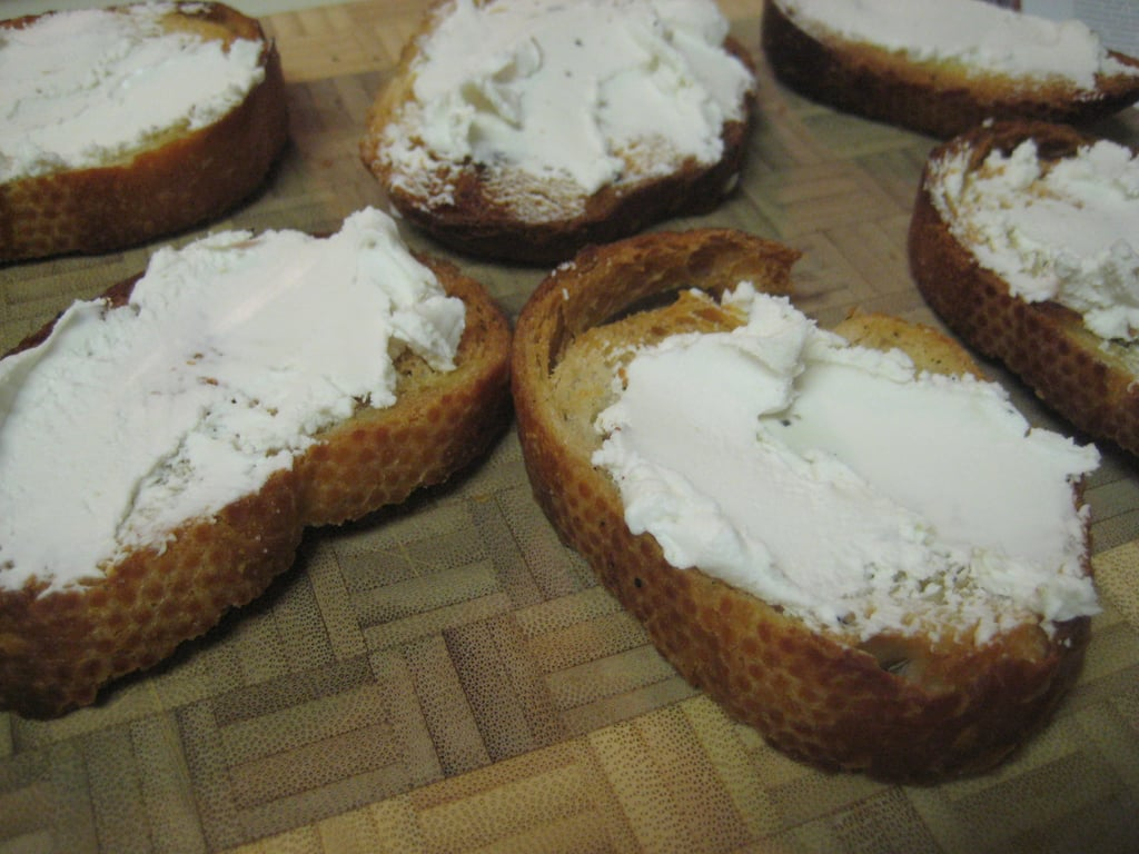 Grape Goat Cheese Crostini