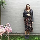 A Printed Dress, Booties, and a Leather Jacket