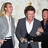 Christian and Richard Wilkins with Richard Reid