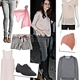 A new color combo to try now: pale pink + gray!