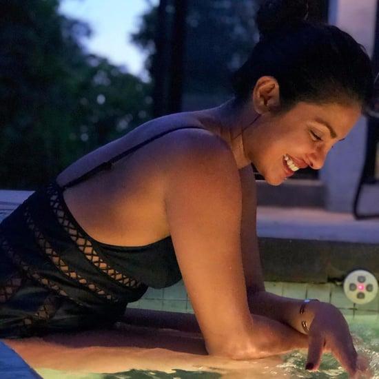 Priyanka Chopra Wearing Black Zimmermann Swimsuit