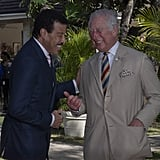 Prince Charles in Barbados With Lionel Richie Pictures