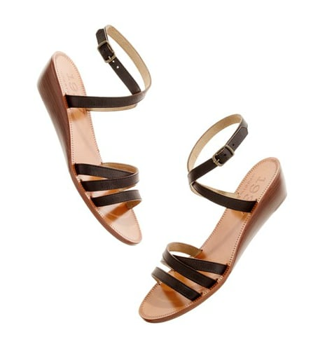 Try the trend in a smaller way with these cute flats — the sliver of wooden wedge still makes a big impact.  Madewell The Station Sandal ($138)