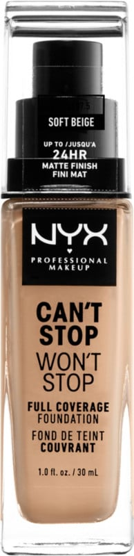 NYX Professional Makeup Can't Stop Won't Stop 24HR Full Coverage Matte