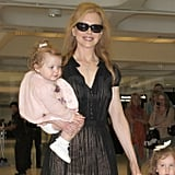 Nicole Kidman carried daughter Faith.