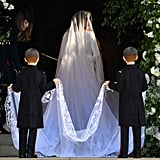 The 7-year-old twins, who are the sons of Meghan's BFF Jessica Mulroney, did a great job of holding her train as she entered the church.