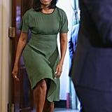 Michelle Obama Wears Michael Kors Dress Again