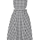Tanya Taylor Monica cutout gingham cotton midi dress ($253)