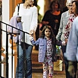Katie Holmes, Suri Cruise, and Katie's mom Kathleen headed out for dinner at ABC Kitchen in NYC.
