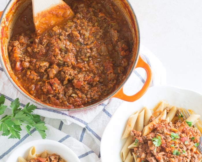 Kid-Friendly Veggie-Loaded Meat Sauce
