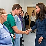 Kate Middleton Visiting Patients at Kings Hospital June 2017
