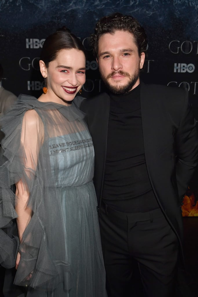 Game of Thrones fans are understandably freaking out about what's in store for Jon Snow and Daenerys Targaryen in the final season, but as captivating as the pair is onscreen, it's just as fun to see Kit Harington and Emilia Clarke hang out in real life. The costars have been photographed together at several events over the past few years — along with Kit's wife, former castmate Rose Leslie. Most recently, both Emilia and Rose popped up on Saturday Night Live to support Kit as the show's host, teasing him during his opening monologue. As we await the season eight premiere, check out some of Kit and Emilia's cutest real-life moments together, then dive into some Game of Thrones theories.      Related:                                                                                                           Why Jon and Daenerys Should Stop Eye-Sexing and Just Get Together on Game of Thrones