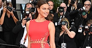 Umm . . . Irina Shayk's Red Gown Is Barely Being Held Together by Mini Chains