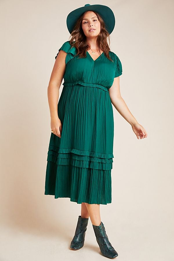 Current Air Sereia Pleated Midi Dress