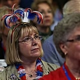 This lady donned a festive hat at the RNC.