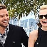Justin Timberlake and Carey Mulligan had a laugh at the Inside Llweyn Davis photocall.