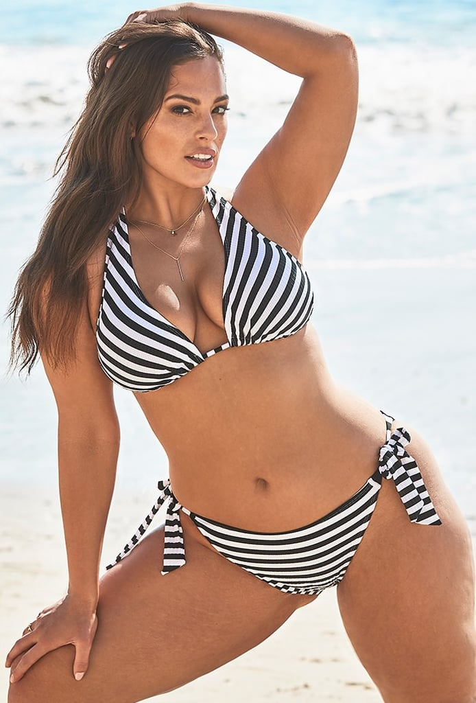 Ashley Graham x Swimsuits For All Elite Striped Ribbed Bikini