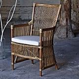 Rattan Chair and Cushion