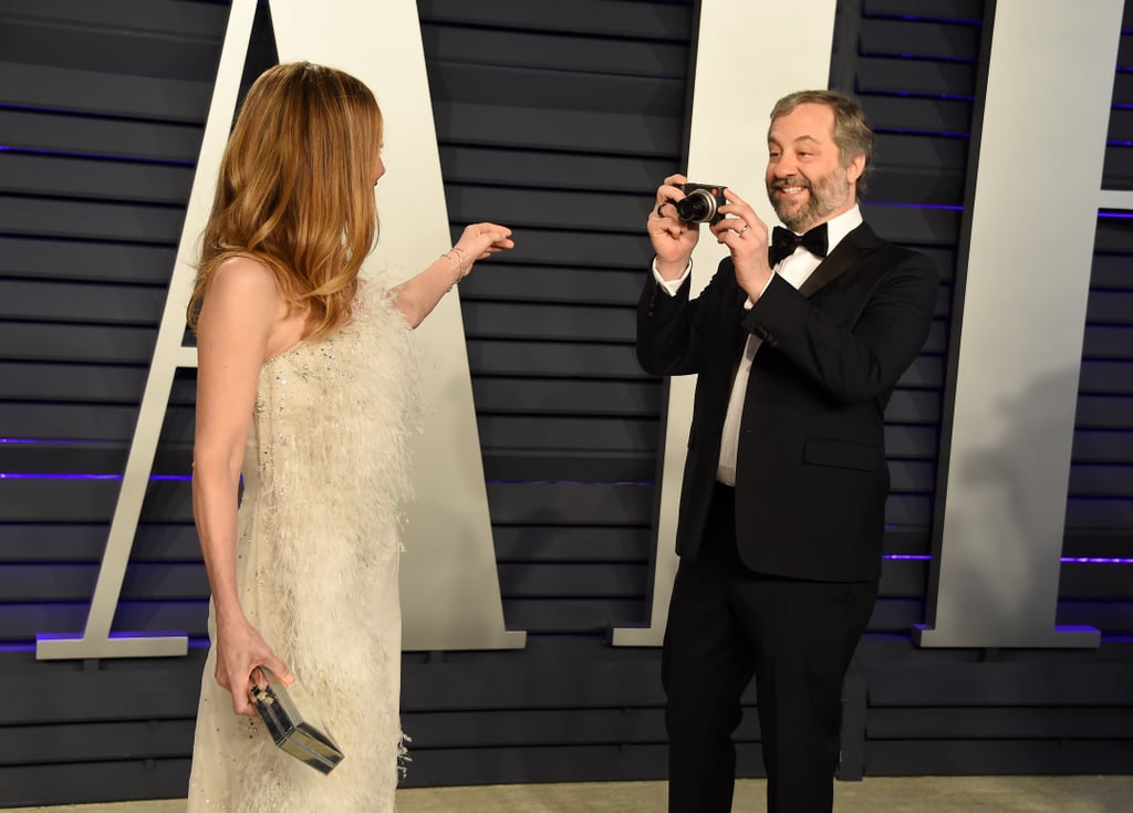 Judd Apatow Plays Paparazzo For His Wife, Leslie Mann, at the Vanity Fair Party