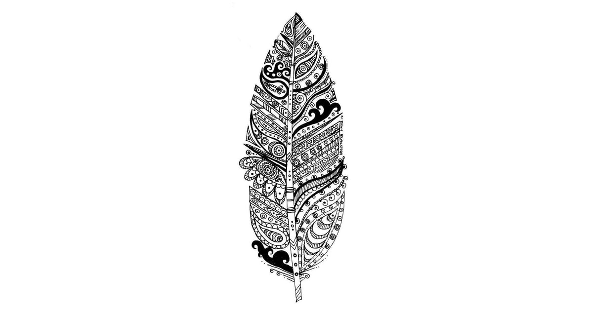 Get the coloring page Feather Free Coloring Pages For Adults