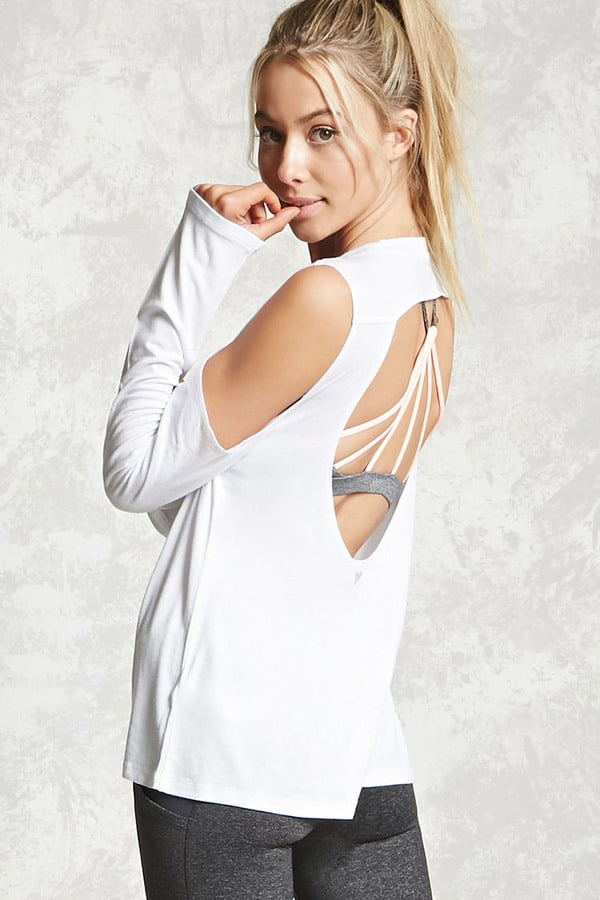 Forever 21 Active Open-Shoulder Top