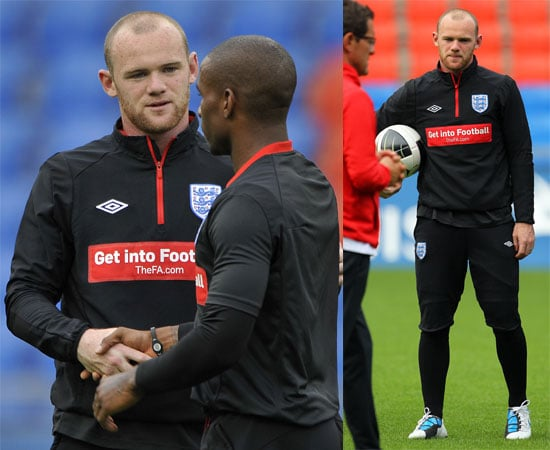 Pictures of Wayne Rooney Training With England Team