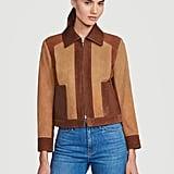 Frame Suede Patchwork Jacket