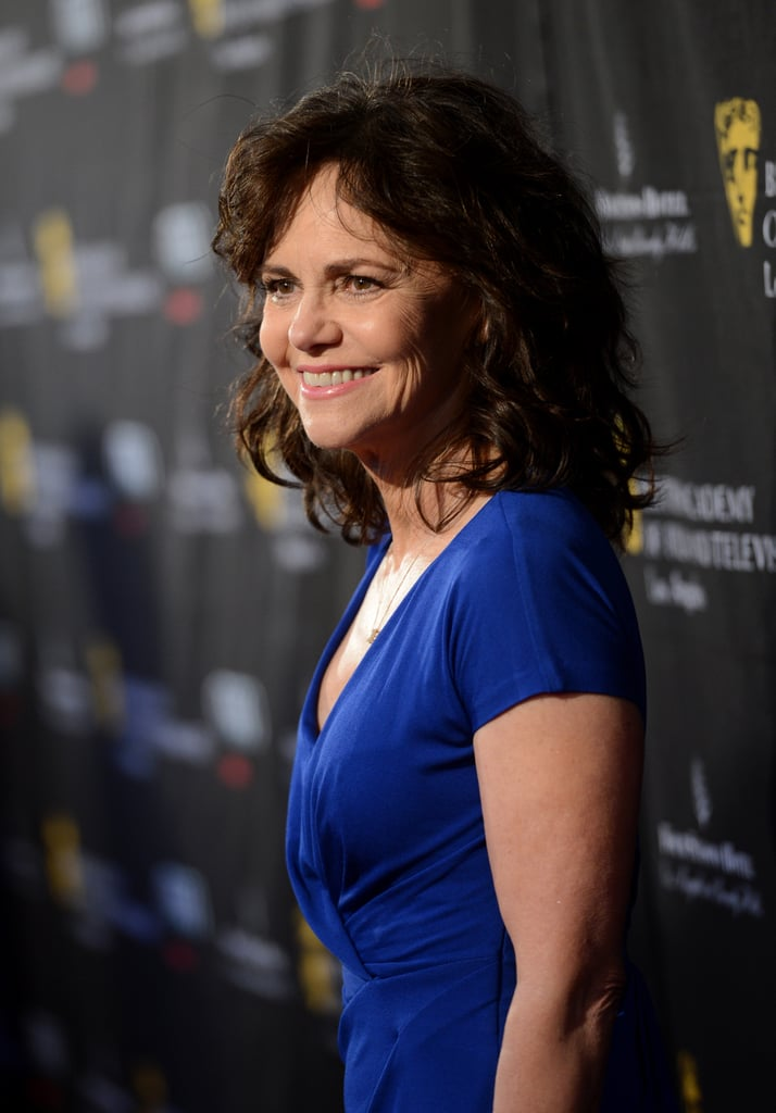Sally Field wore bold blue.