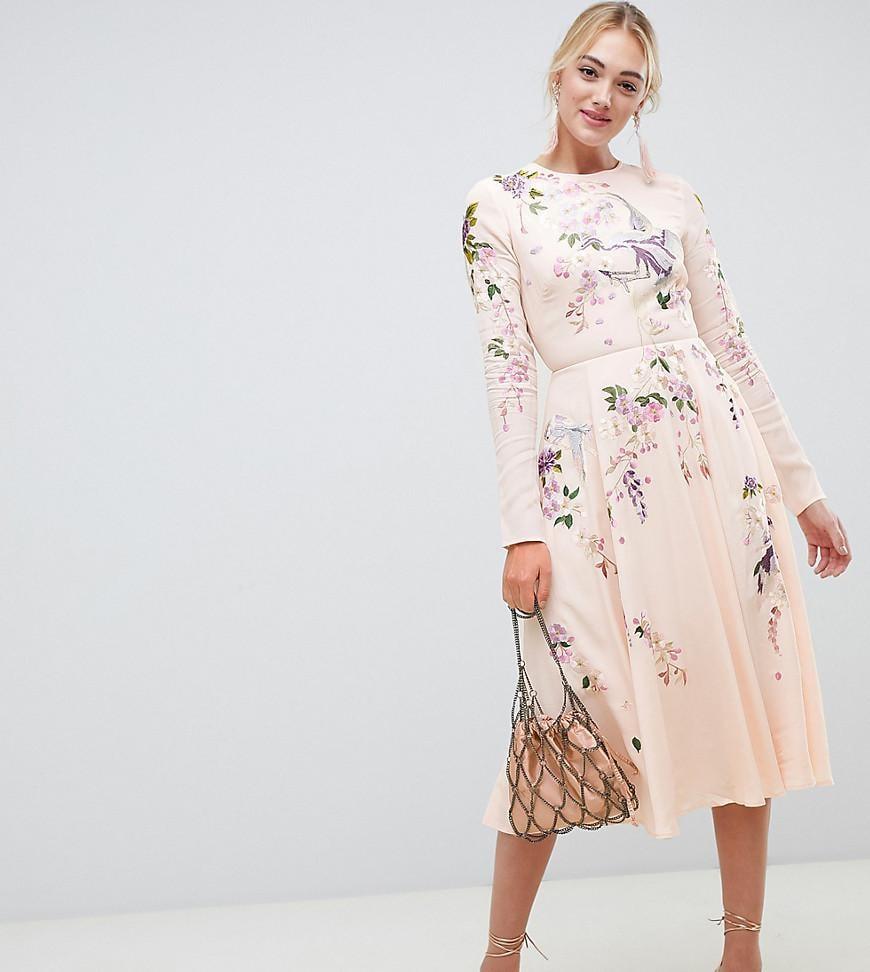 16d1030707 Shop queen letizias exact asos dress queen letizias pink bird jpg 870x972  Asos pink dress
