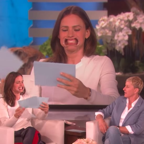 Jennifer Garner Playing Speak Out With Ellen Video