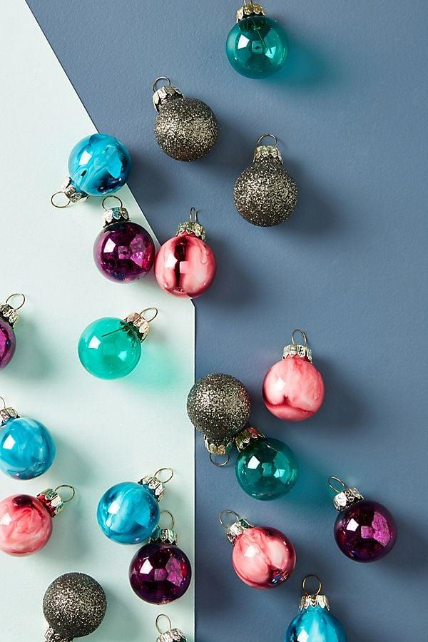 Miniature Metallic Ornaments, Set of 24