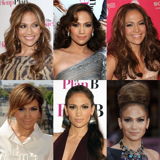 Pictures of Jennifer Lopez's Hair During Back-up Plan Press