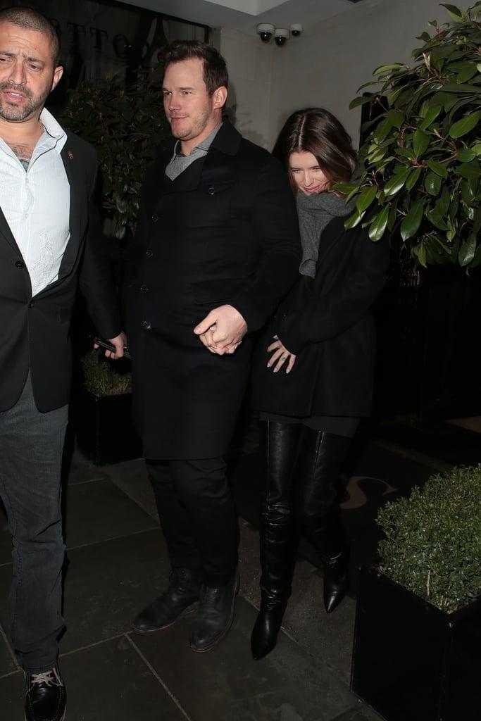 Chris Pratt and Katherine Schwarzenegger Out in London 2019