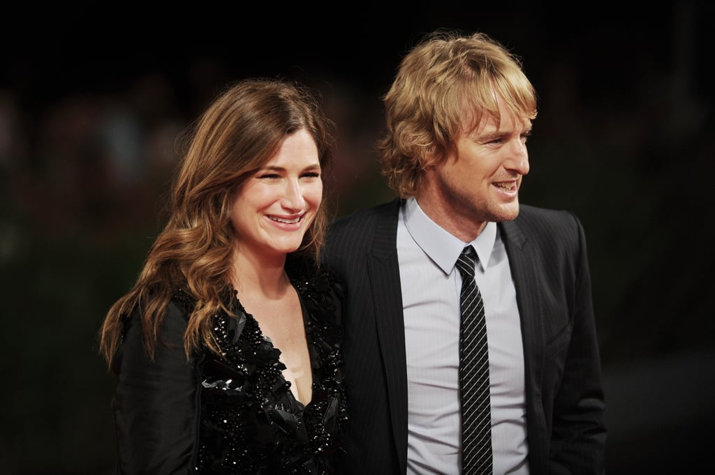 Kathryn Hahn and Owen Wilson had big smiles at the She's Funny That Way premiere on Friday.