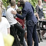 Jude Law kisses son Rafferty.