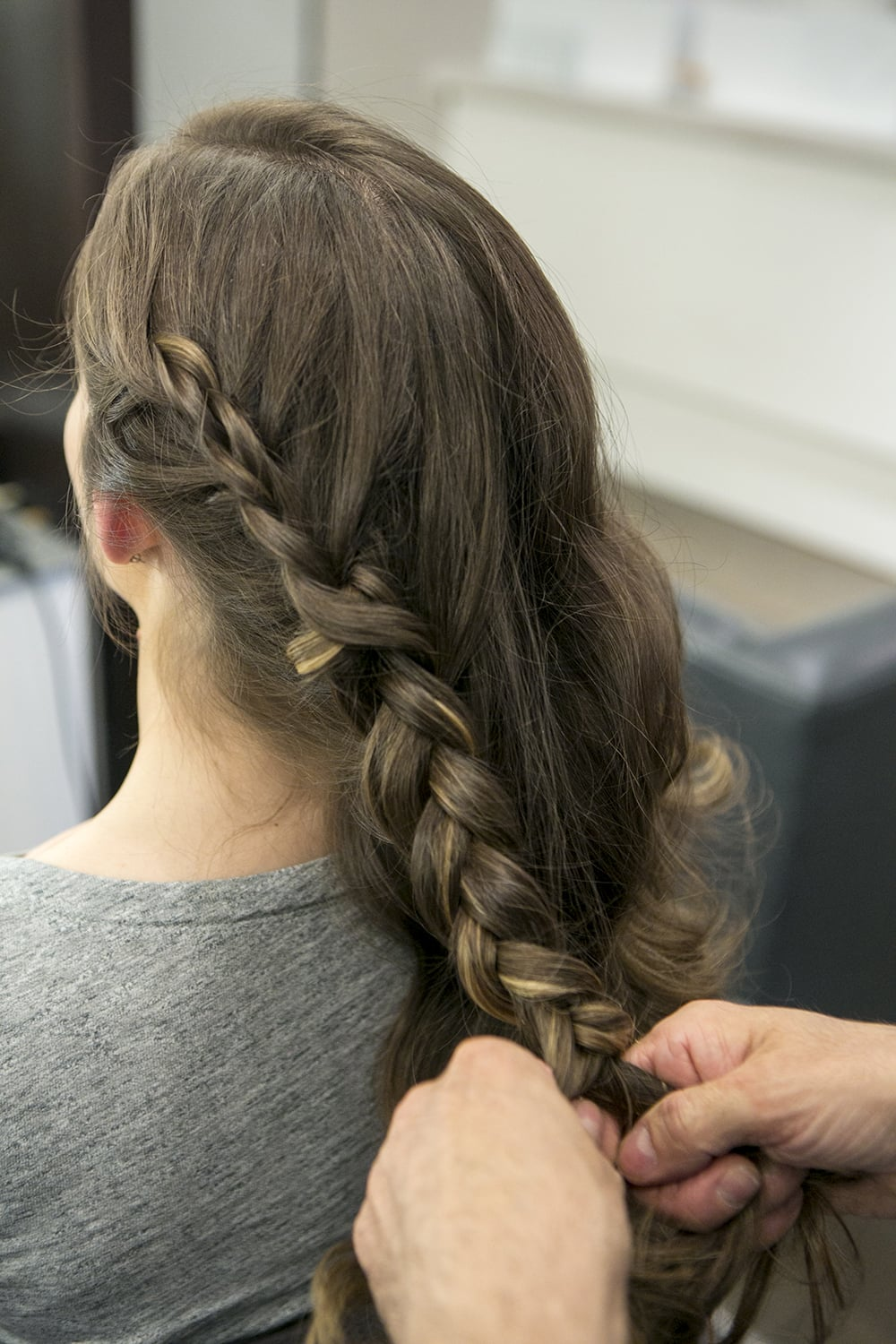 Step One: Braided Chignon For Brunch