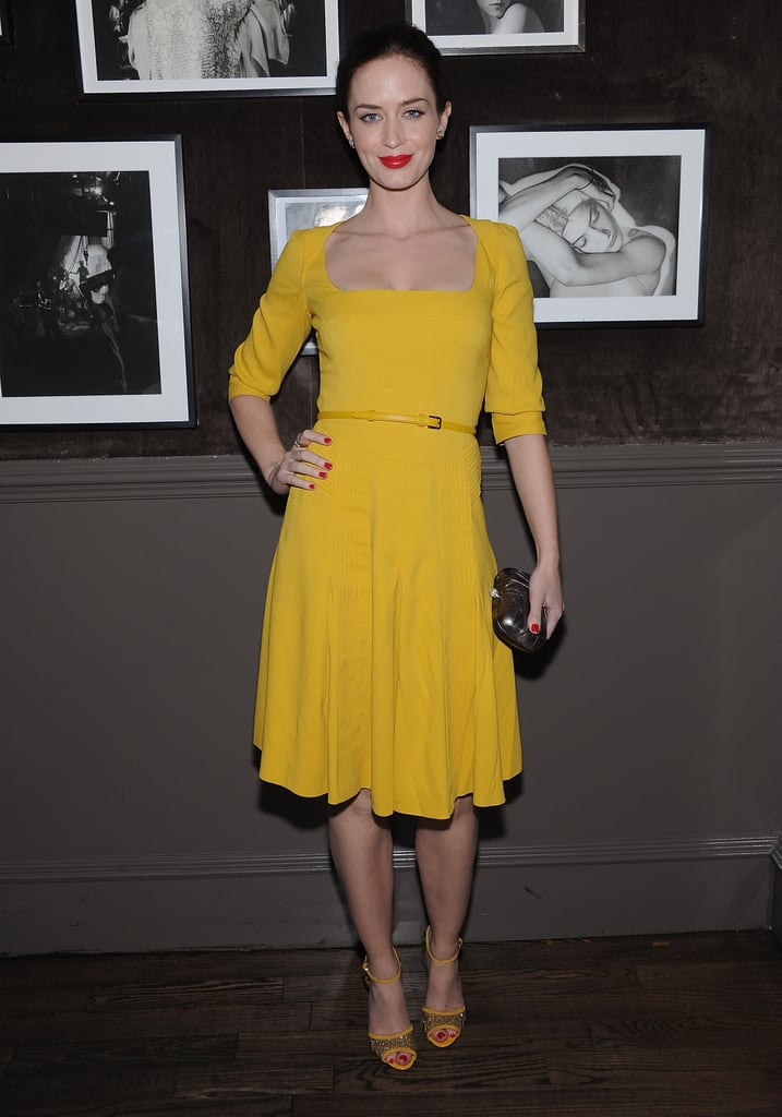 Emily Blunt attended the Elie Saab private dinner at Crown in NYC.