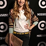 Emma Roberts went to the Missoni for Target party.