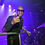 Usher partied in Miami on New Year's Eve.