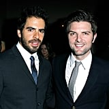Eli Roth and Adam Scott partied together in LA.