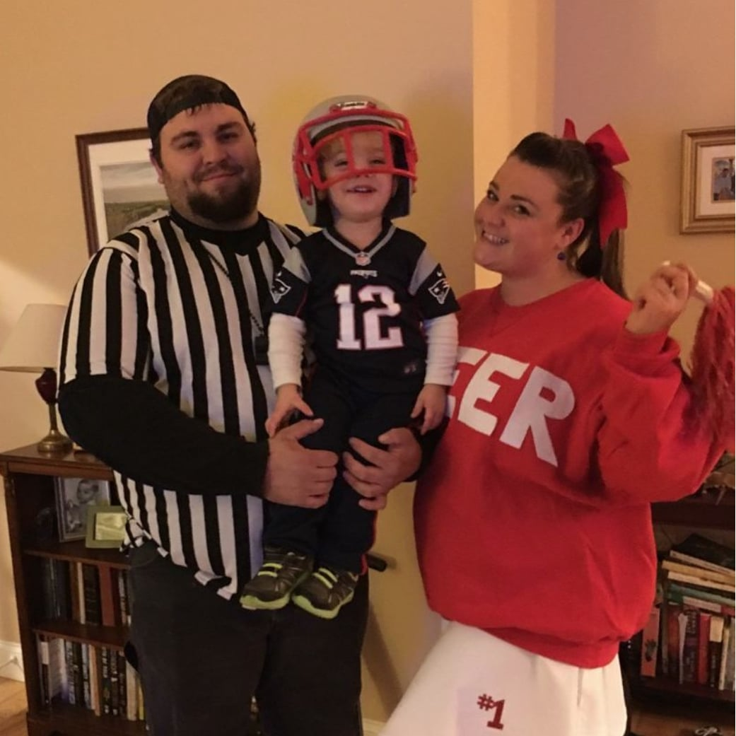 Football Player Halloween Costume.Football Player Cheerleader And Referee Calling All Families Of 3 We Have The 50 Halloween Costume Ideas You Ll Want To Steal Popsugar Family Photo 49